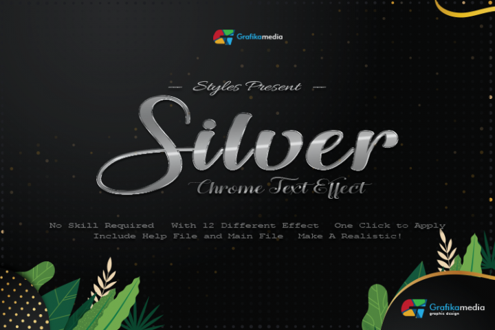 12 Silver Chrome Text Effect Styles
