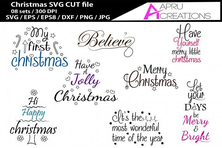 Christmas SVG cutting files bundle