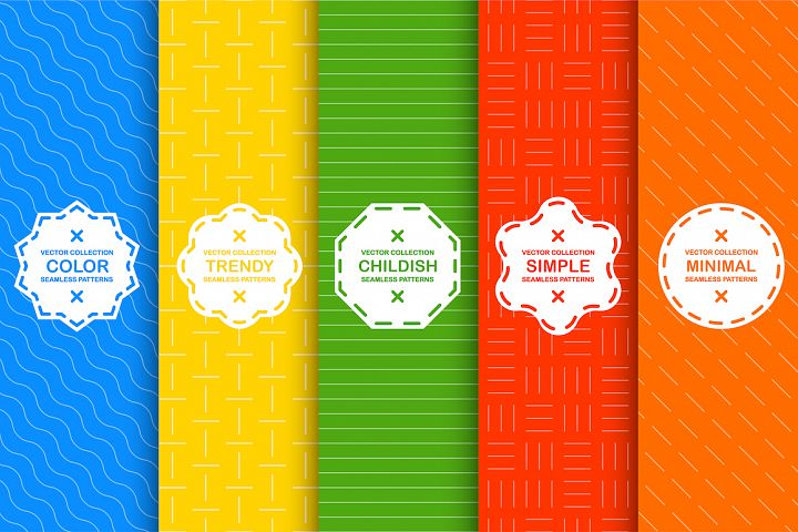 Bright seamless geometric patterns