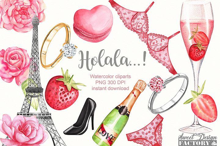 Watercolor Valentine clipart