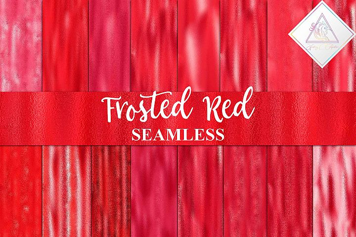 Seamless Frosted Red Digital Paper