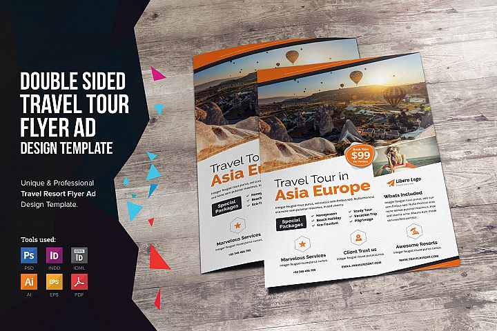 Travel Resort Flyer Design v2