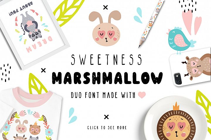 Sweetness Marshmallow - Font Duo