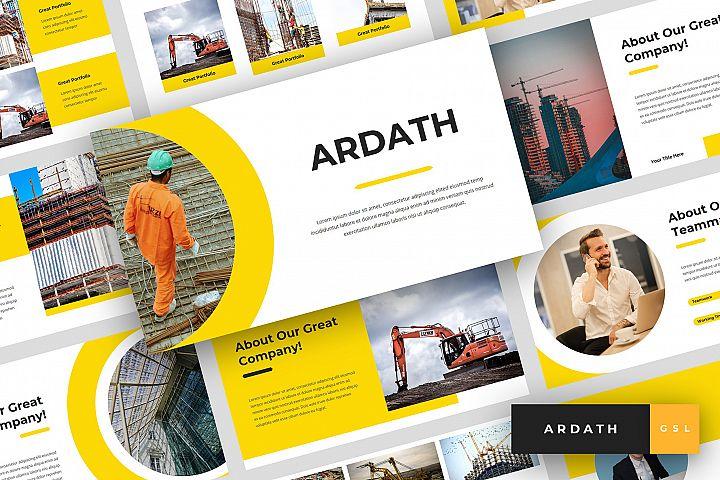 Ardath - Construction Google Slides Template