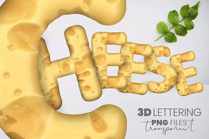 Swiss Cheese 3D Lettering