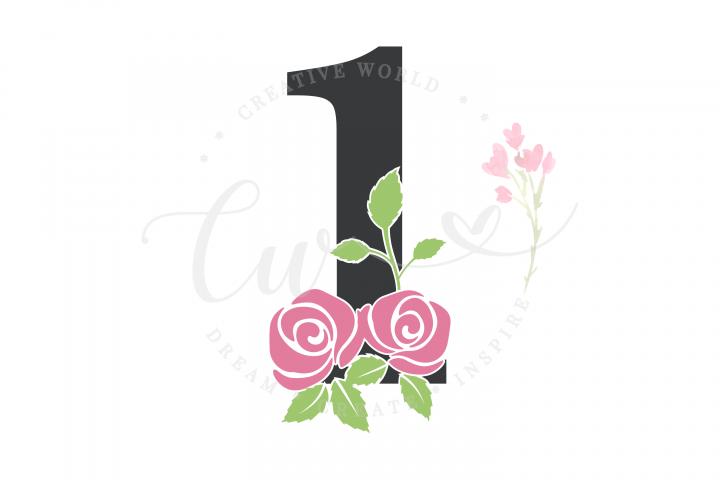 My 1st Birthday Rose Flower SVG | Birthday Girl svg