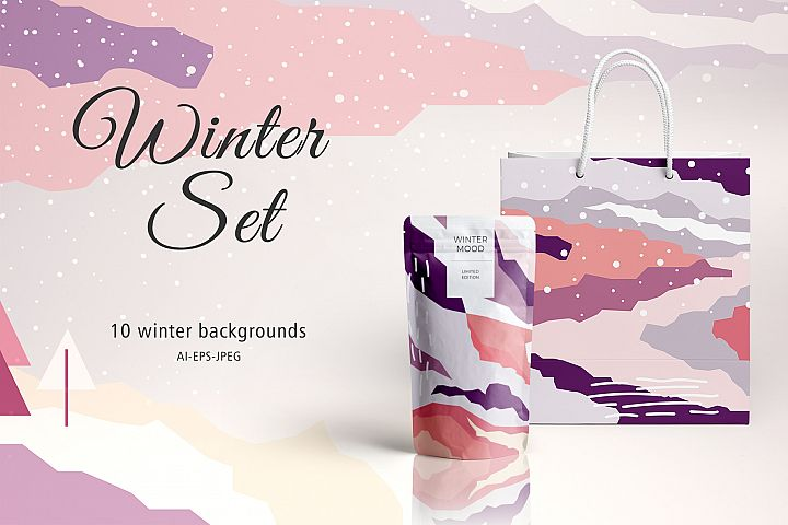 Winter Set Backgrounds