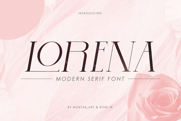 Lorena | Modern Serif Font