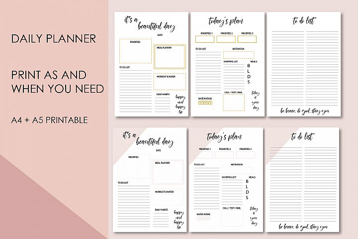 Daly planner, Motivational to do list, Printable planner