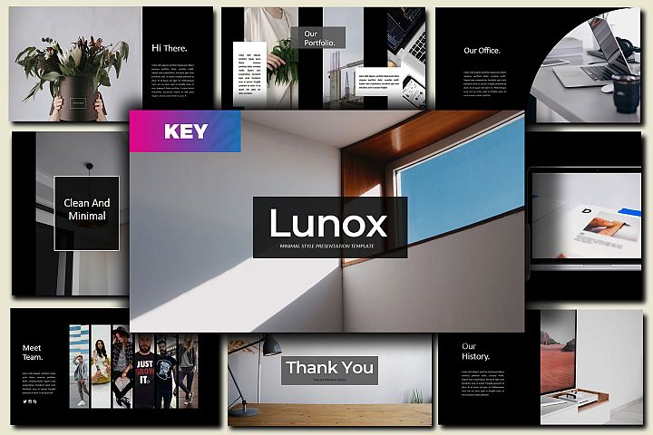 Lunox Dark - Keynote Template