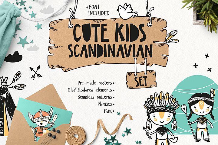 Cute Kids Scandinavian Set