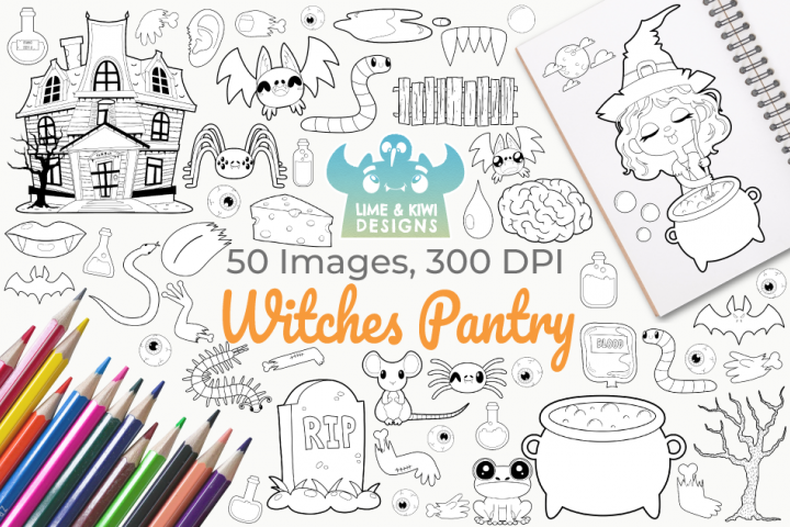 Witches Pantry Digital Stamps