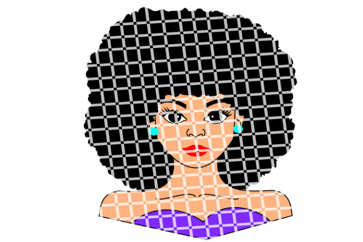 Afro Girl SVG, Black Woman svg,African American svg