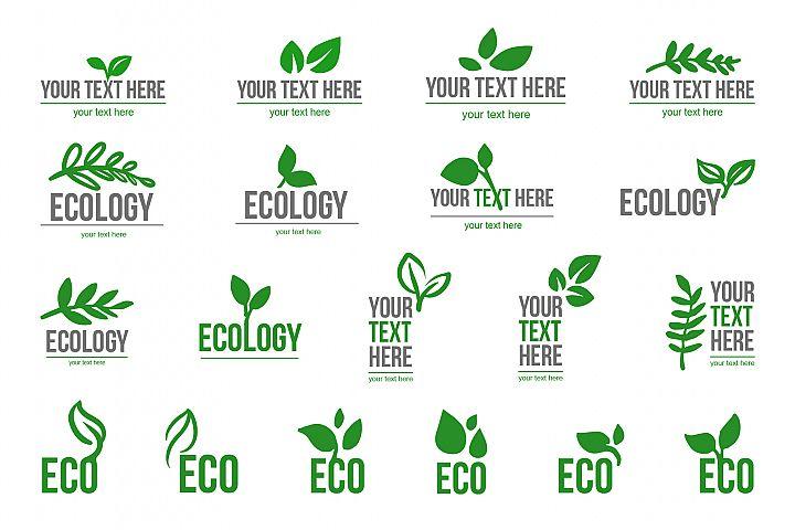 Ecological logo leaves symbol