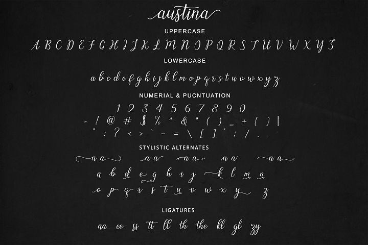 Austina - Free Font of The Week Design 4