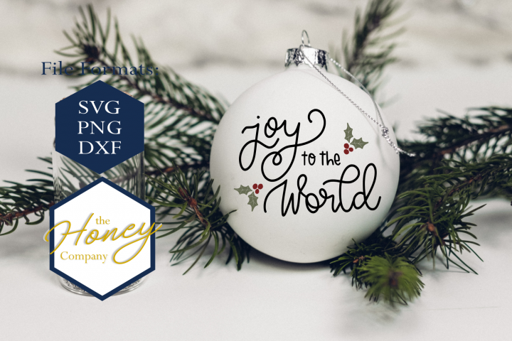 Joy To The World SVG PNG DXF Christmas Winter Ornament