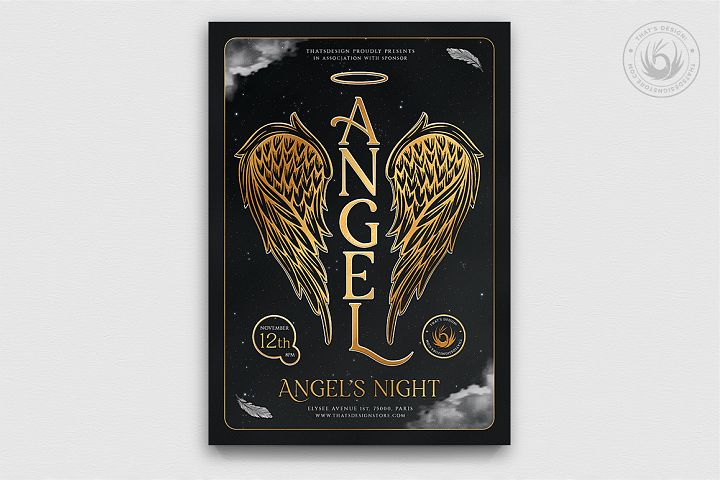 Angels Party Flyer Template V3