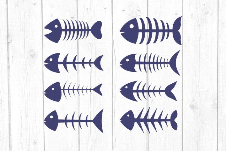 Fishbone Svg File, Fish Svg, Cricut Explore and more