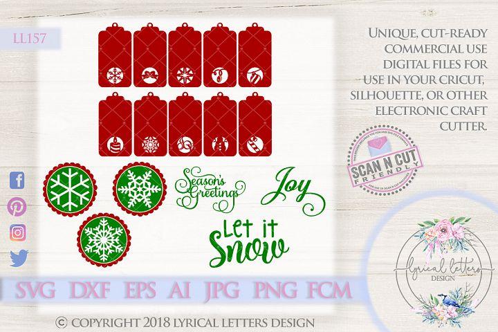 HUGE Christmas Tag Bundle of 16 SVG Cut Files