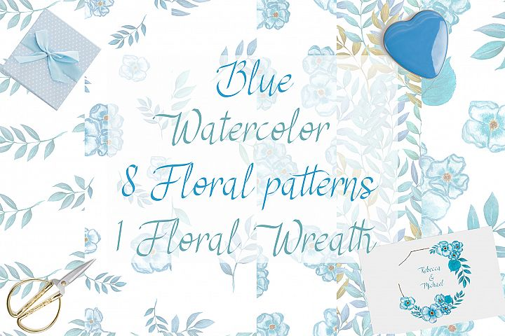 Blue Floral Collection