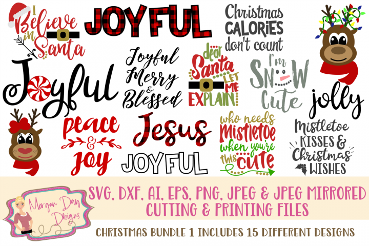 Christmas Bundle 1 SVG, DXF, AI, EPS, PNG, JPEG