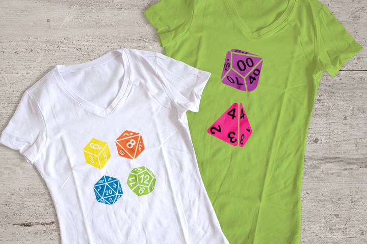 RPG Dice Set SVG File Cutting Template