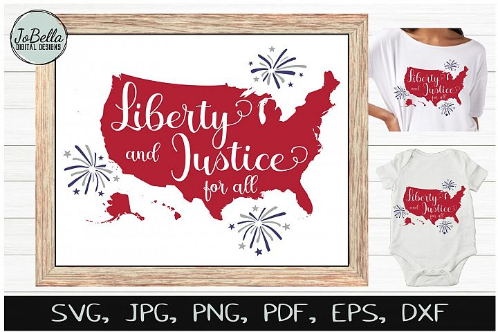 America SVG & July 4th Sublimation Design and Printable