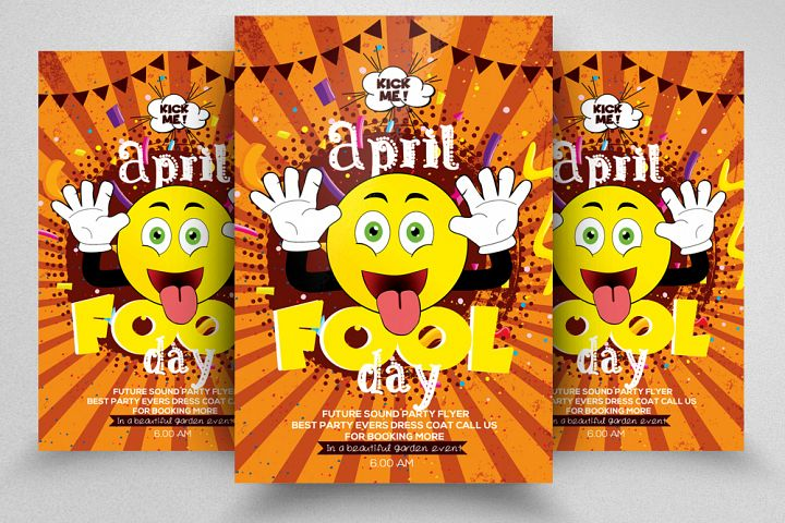 April Fool Day Flyer