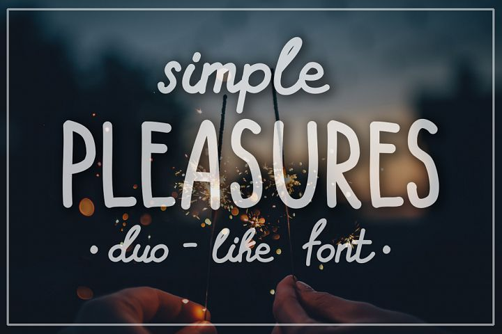 SIMPLE PLEASURES - hand drawn font