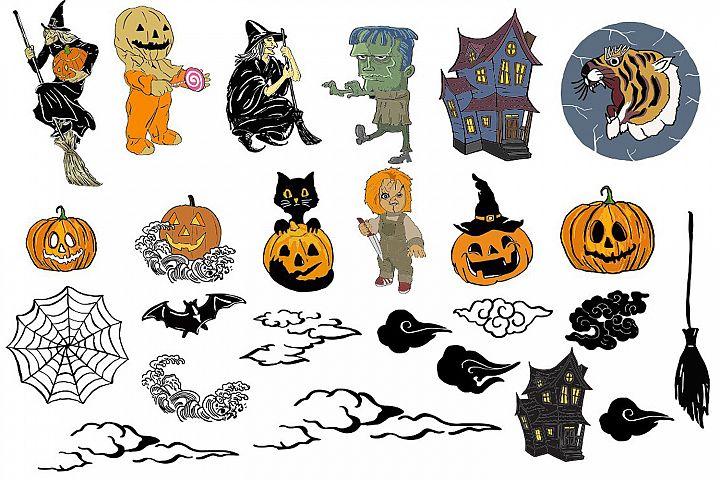 25 halloween pack