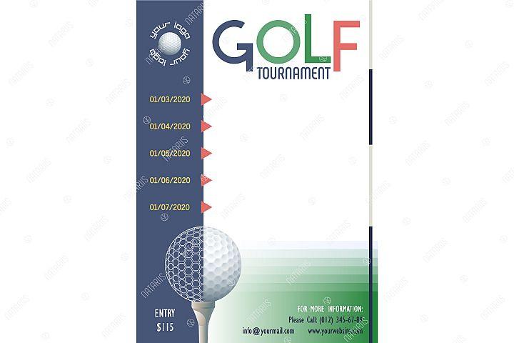 Golf Tournament poster template.