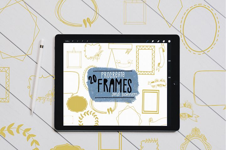Photo Frame & Banner Stamp Brushes for Procreate