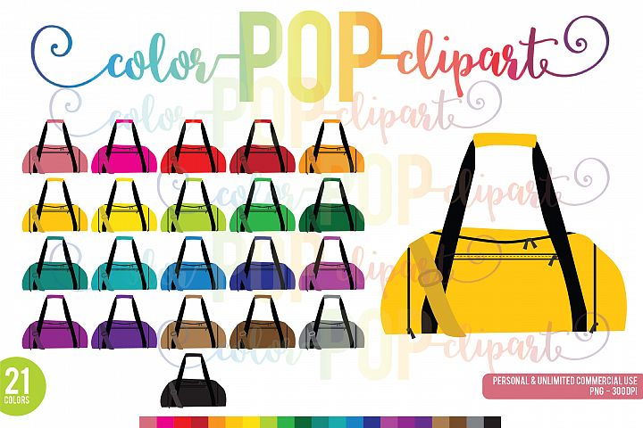 Rainbow Gym Bag Clipart, Duffel Bag, Fitness, Bag, Gym , Icon PNG Planner Sticker Clipart Graphics Planner Sticker Icon Commercial Use