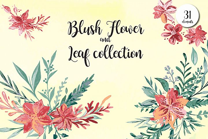 Blush Flower and Leaf collection