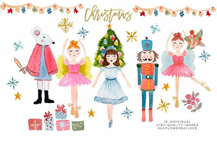 Nutcracker Clip Art, Christmas ballet illustration
