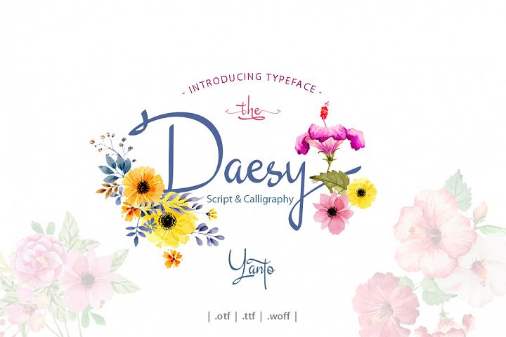 Daesy Script Challigrapy Font