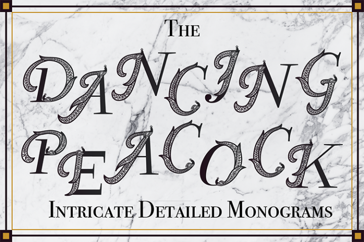 The Dancing Peacock- a Detailed Monograms