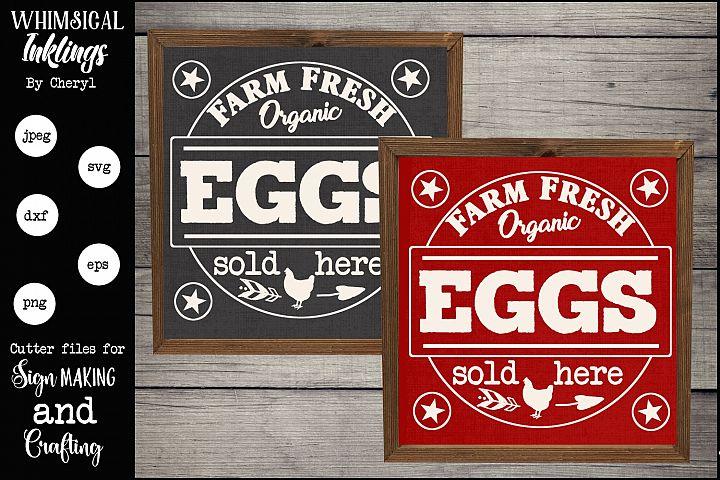 Farm Fresh Eggs Version 2 SVG