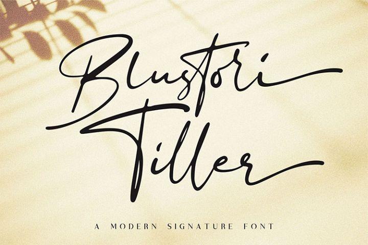 Blustori Tiller//Modern Script