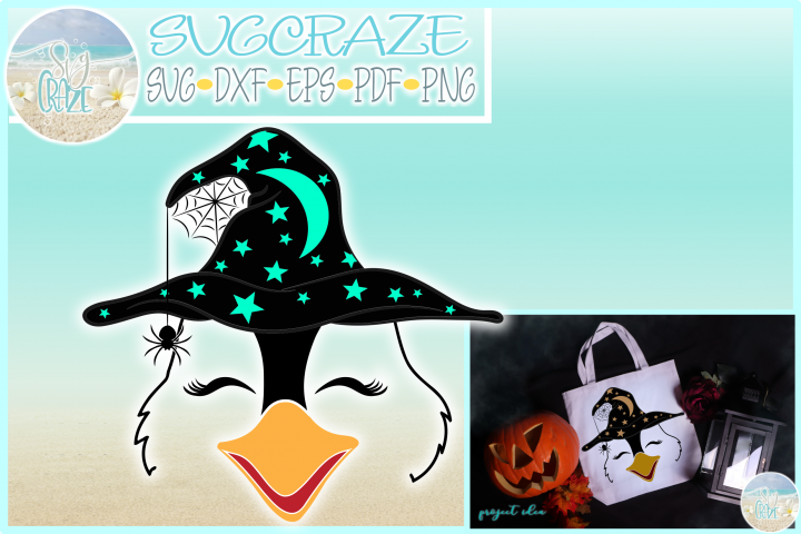 Penguin Face With Witch Hat SVG Dxf Eps Png PDF