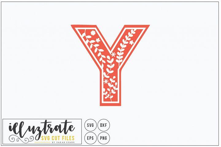 Letter Y SVG Alphabet - DXF cut files - Vector Clipart