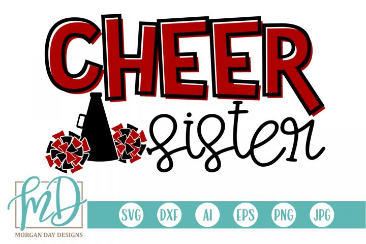 Cheer Sister - Cheerleader SVG, DXF, AI, EPS, PNG, JPEG