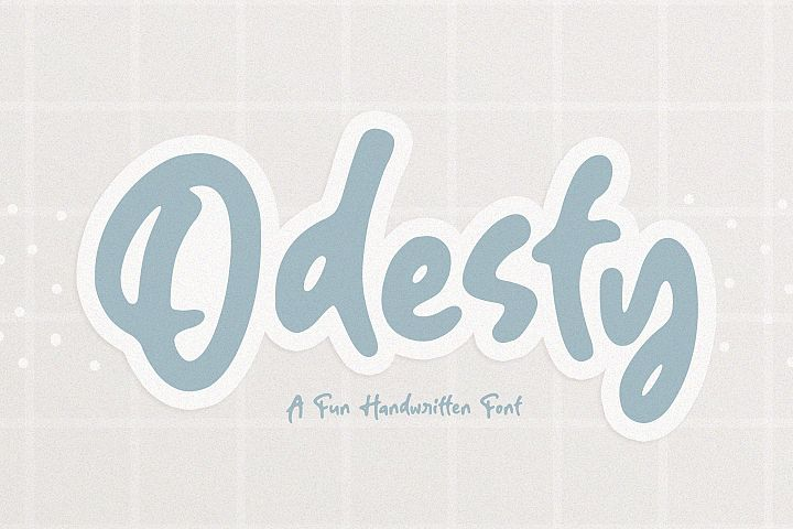 Odesty | A Fun Handwritten Font