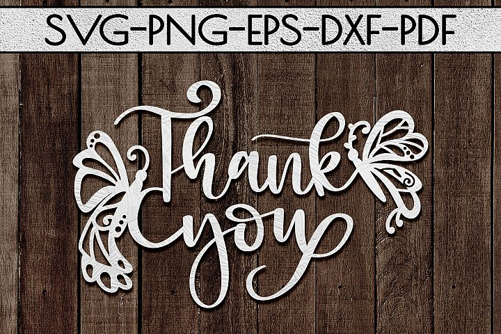 Thank You 4 Papercut Template, Spring Appreciation SVG, PDF
