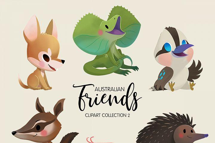 Australian Friends Clipart Collection 02