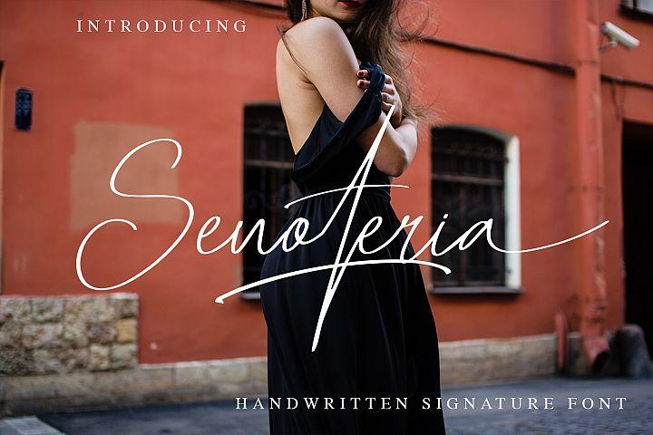 Senoteria Handwritten Signature Font
