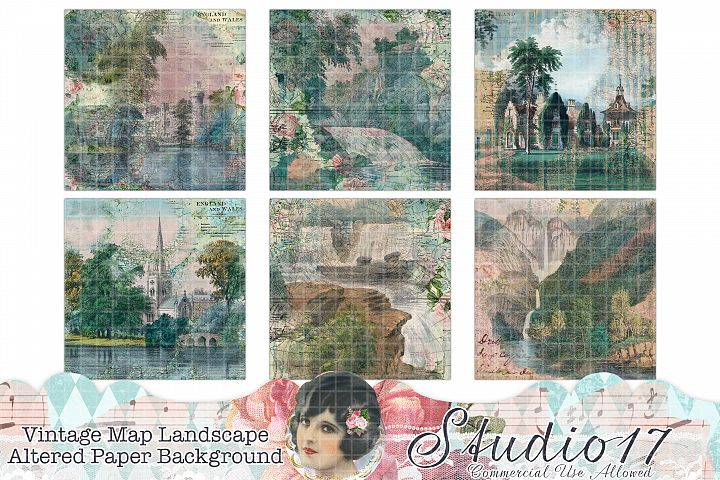 Altered Map Scenic Papers
