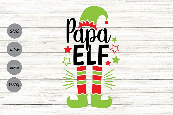 Papa Elf Svg, Christmas Svg, Elf Svg, Dad Svg, Elf Hat Svg.