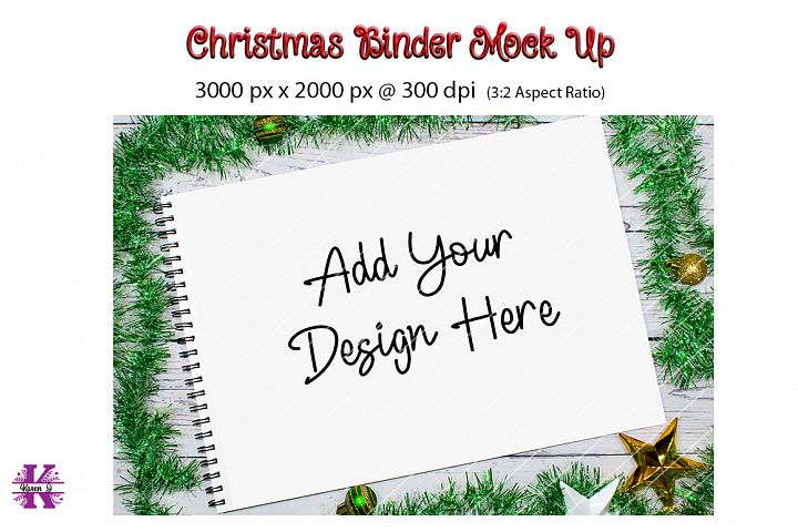 Christmas Binder Mock Up