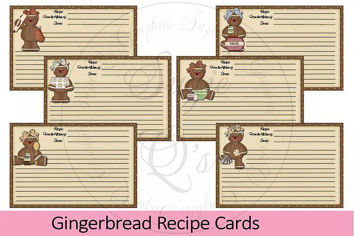Gingerbread Recipe Cards